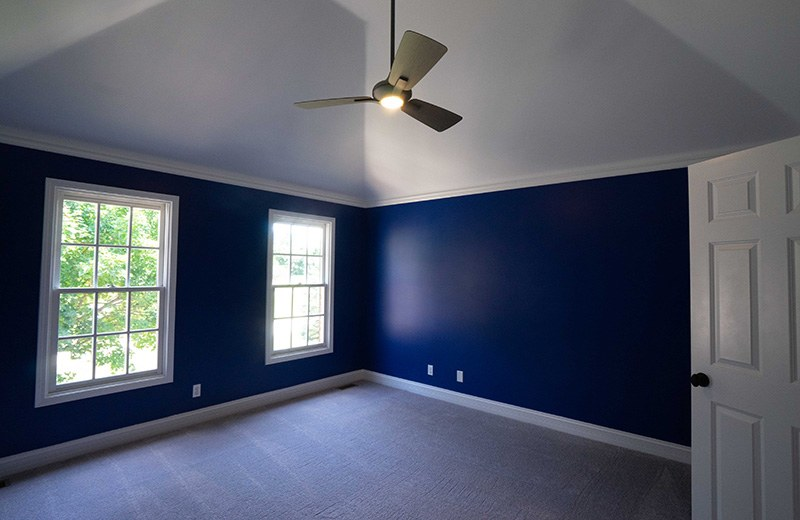 Whole house remodel -blue bedroom