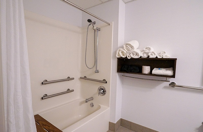 Commercial building - interior remodeling - guest room bathroom