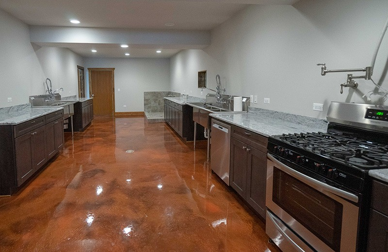 Custom built energy efficient home - canning kitchen