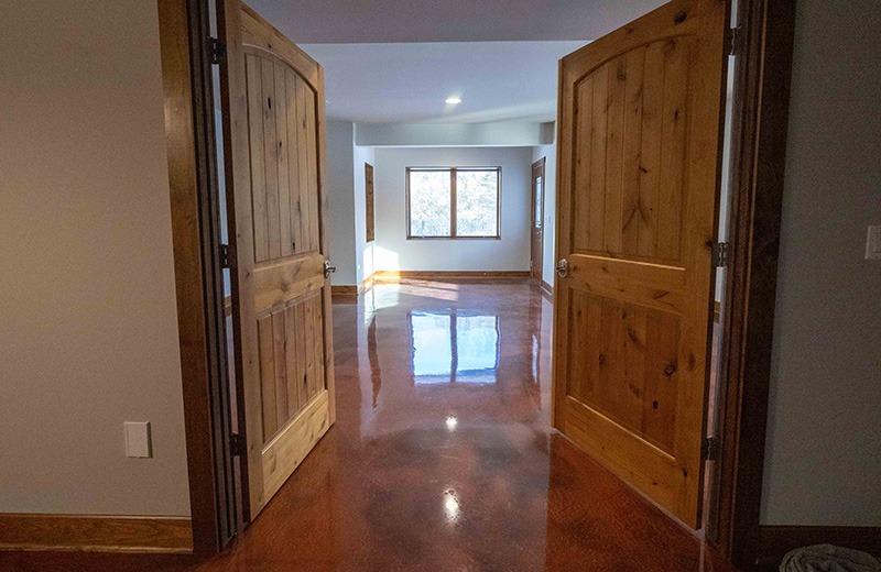 Custom built energy efficient home - lower level bedroom