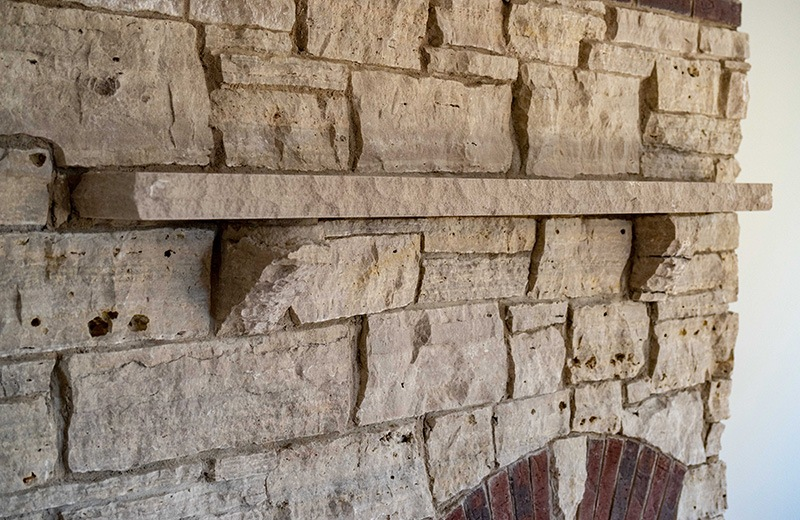 Custom built energy efficient home - masonry work