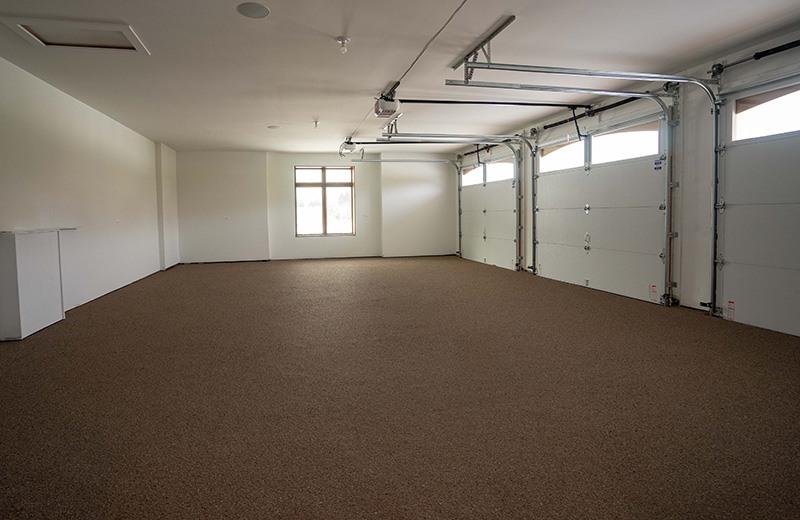 Five Car Garage with Epoxy Floor