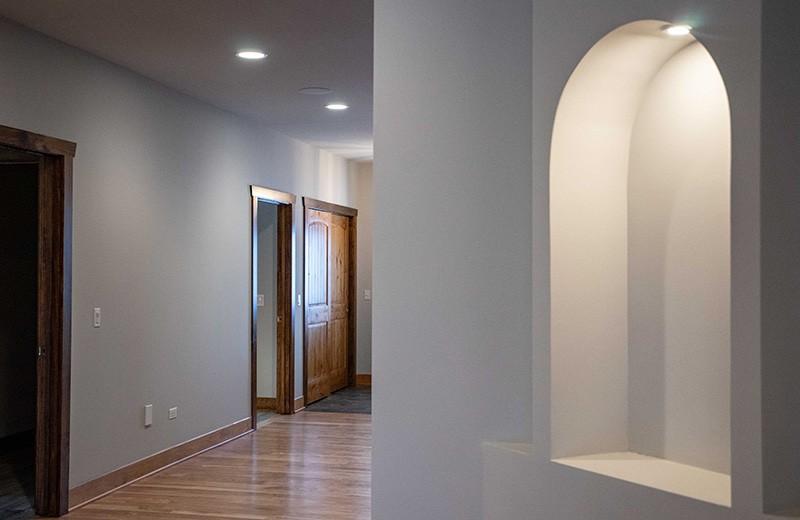Custom Curved Niche in Hallway