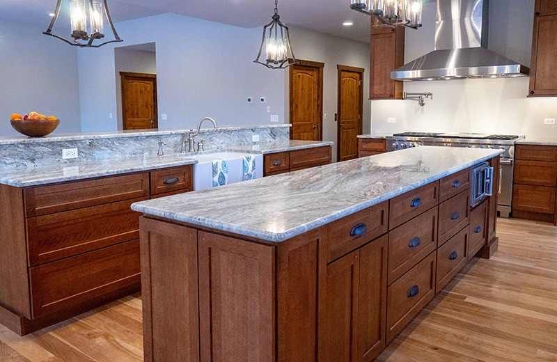 Custom built energy kitchen islands