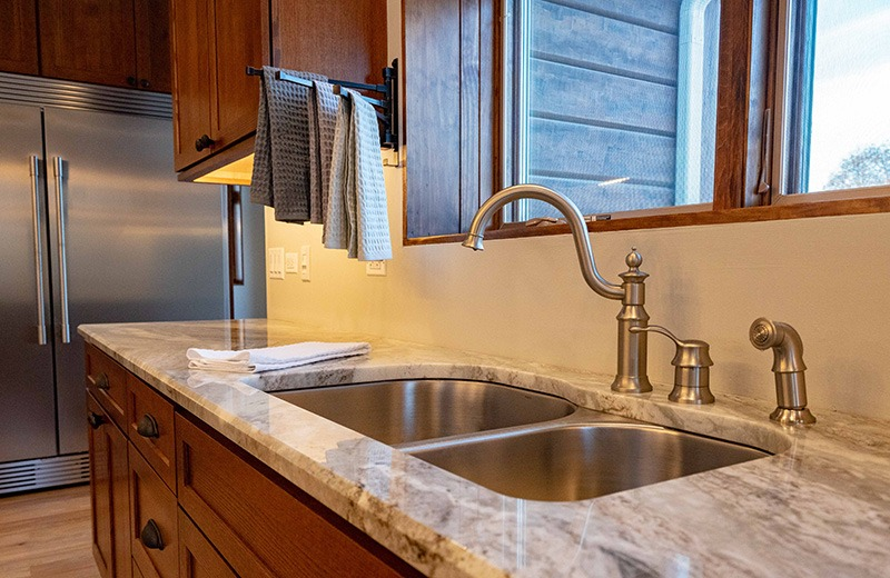 Back counter with Sink