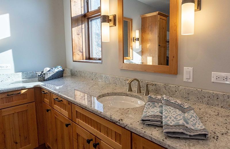 Master Bathroom Sink area with Mirror