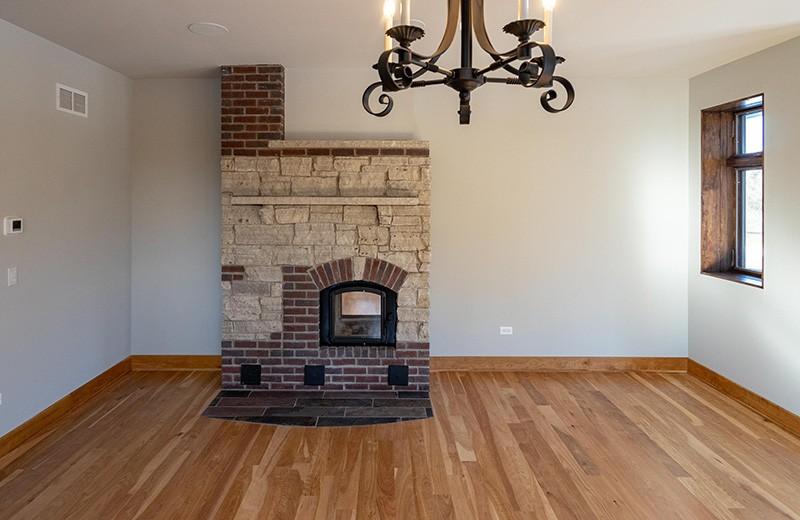 Custom built energy efficient home - masonry heater, master bedroom