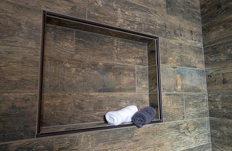 Custom built energy efficient home - shared shower - detail