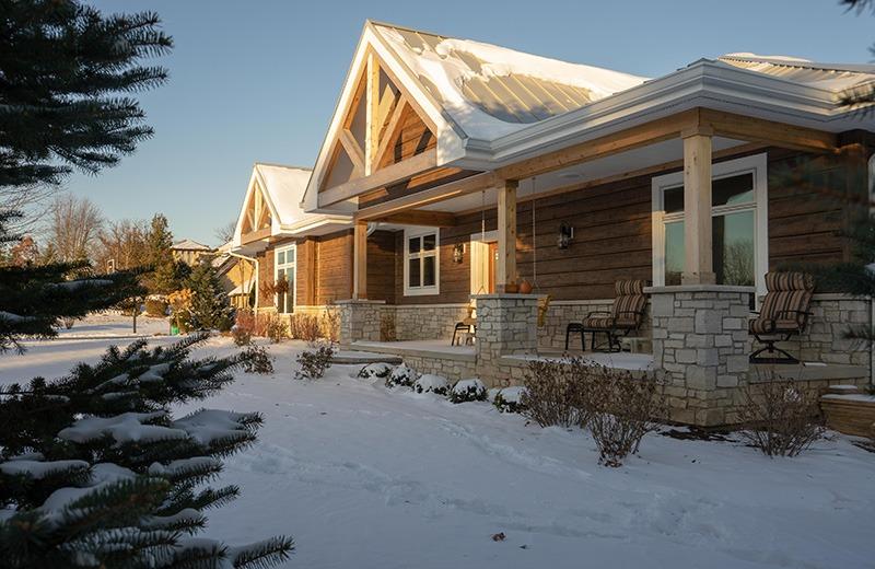 Custom built energy efficient home - outside front