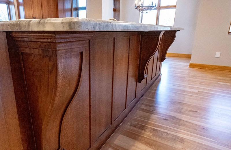 Custom Cabinet Island Wood Detail