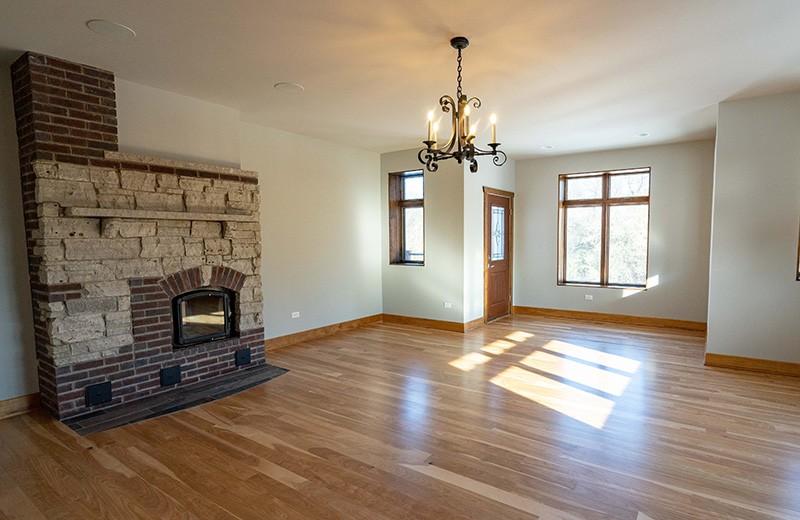 Master Bedroom with Masonry Heater