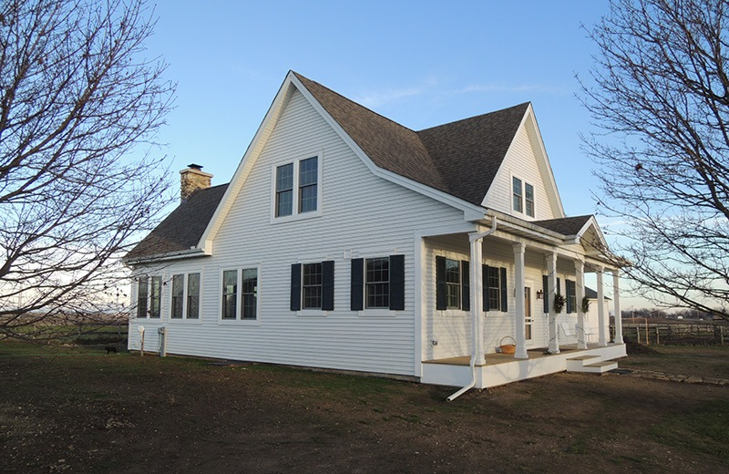 Custom built country home - outside front side