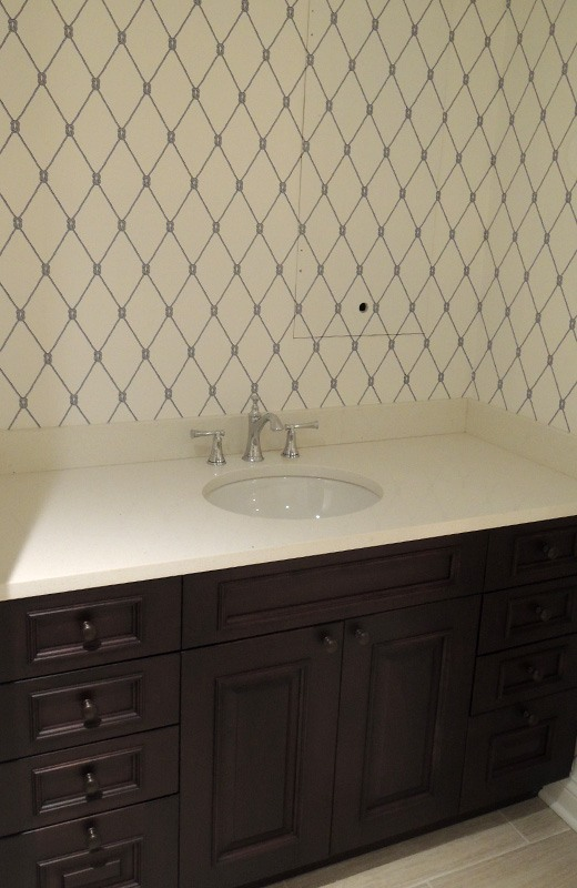Basement remodeling - bathroom sink area, Lakewood, IL