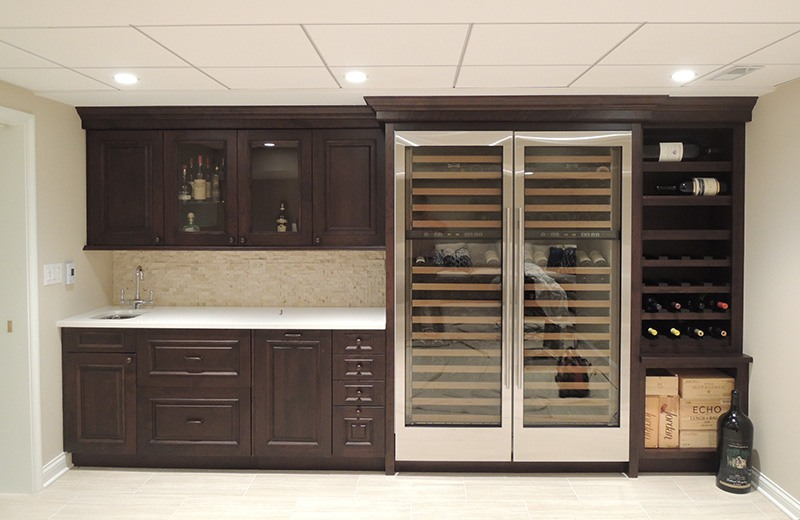 Finished Basement - wine cellar and bar