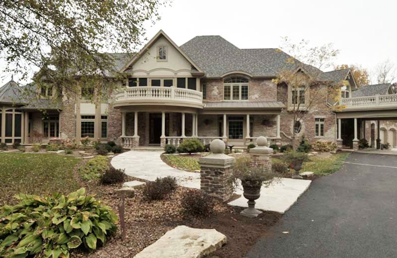 Custom built luxury home - outside front