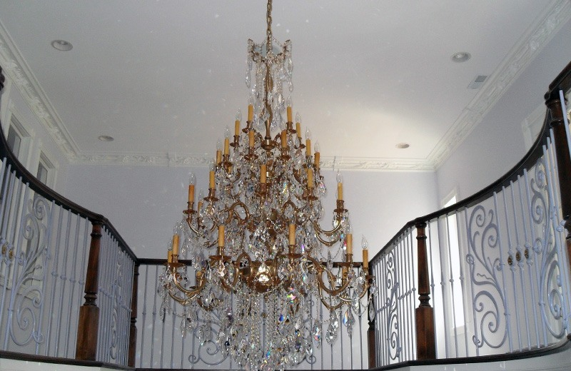 Reinforced Ceiling to Hold the Weight of the Chandelier