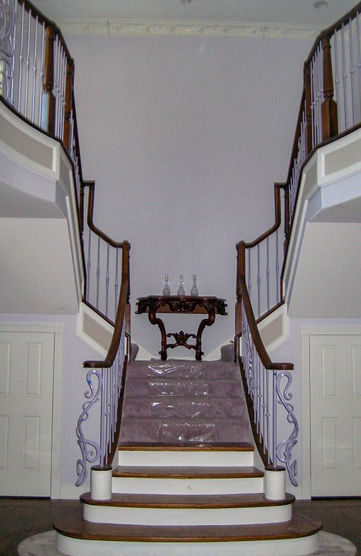 Custom built luxury home - staircase, Bull Valley, IL