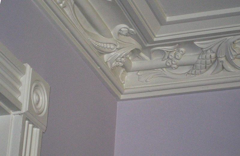 Custom built luxury home - mill work detail, crown molding