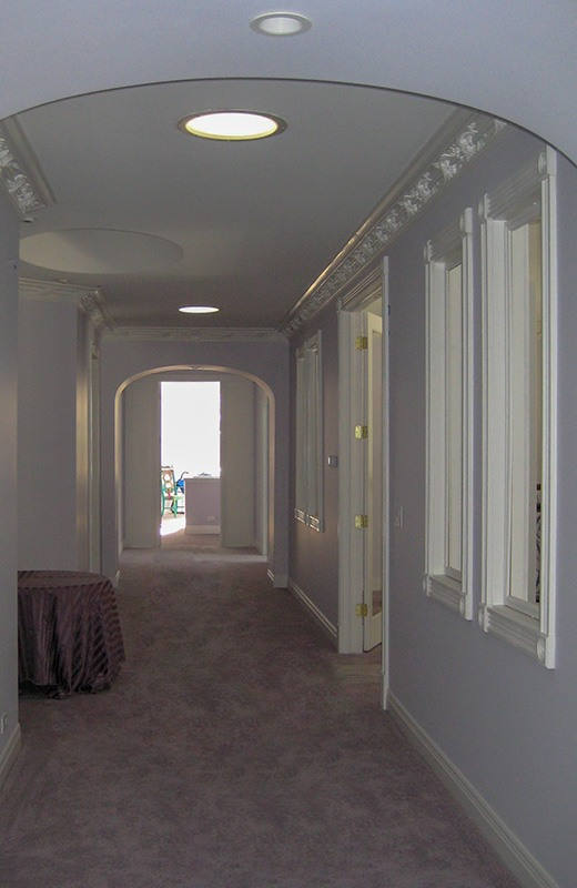Custom built luxury home - hallway to upstairs suites, Bull Valley, IL