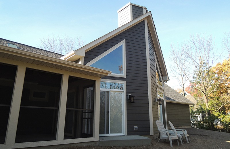 Custom built home - outside patio in the back