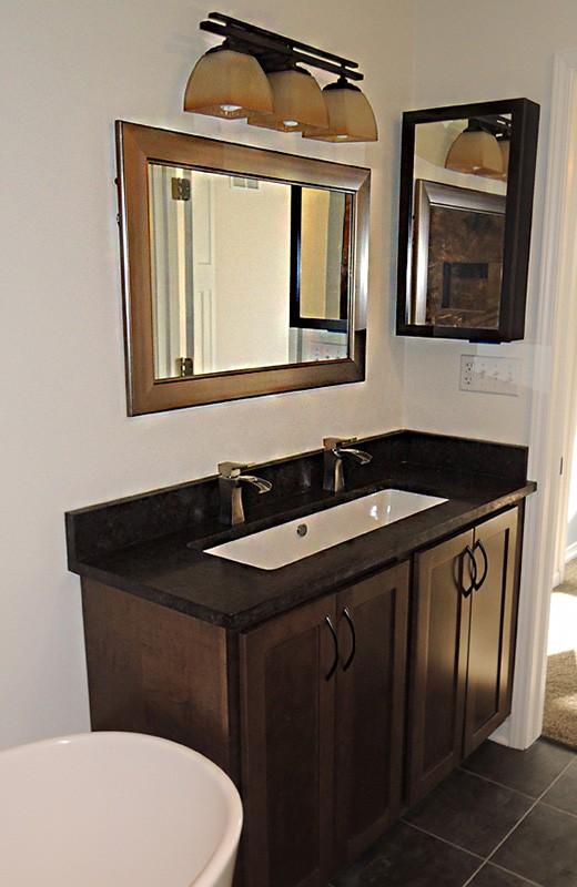 Custom built home - bathroom