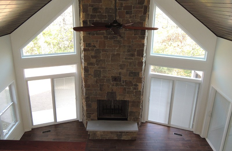 Custom built home - fireplace