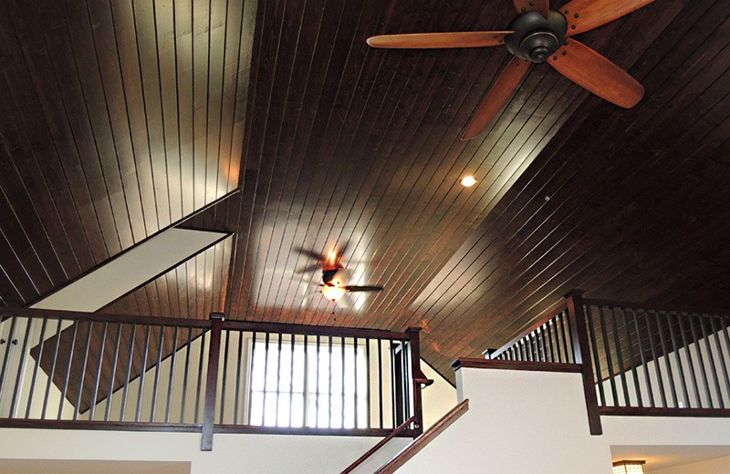 Custom built home - vaulted wood ceiling