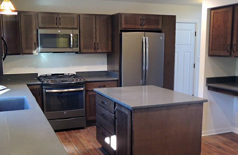 Custom built home - kitchen, McHenry, IL