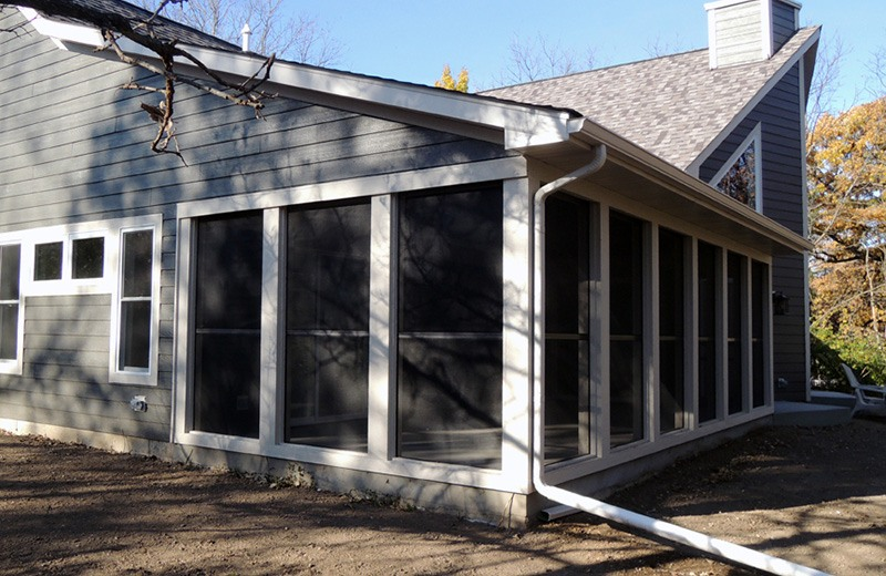 Custom built home - screened in porch from the outside