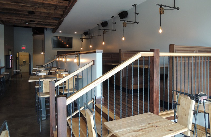Commercial renovate - dine-in seating on different levels