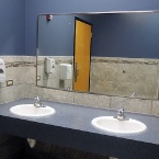 bathroom sinks in athletic center remodel in Crystal Lake, IL
