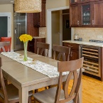 kitchen in custom-built home in Carpentersville, IL