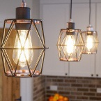 kitchen pendant lights in custom-built home in Spring Grove, IL