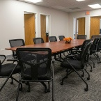 conference room in office remodel in Crystal Lake, IL
