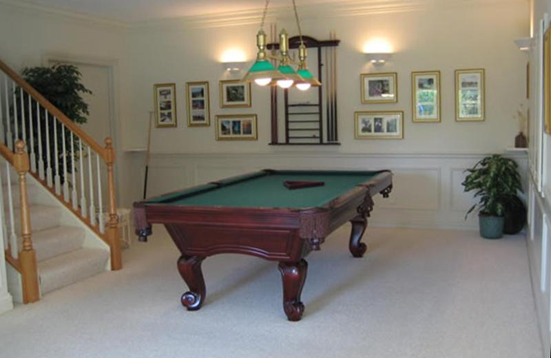 Basement remodel - lower walk included pool table area