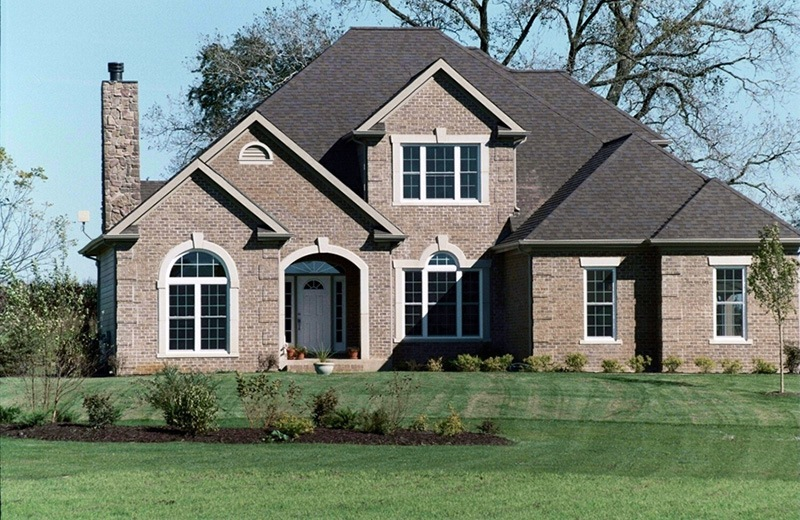 Custom Built Brick Home - front of home
