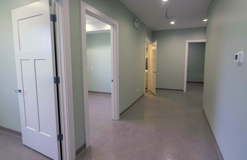 Commercial custom build - examining rooms at hospital