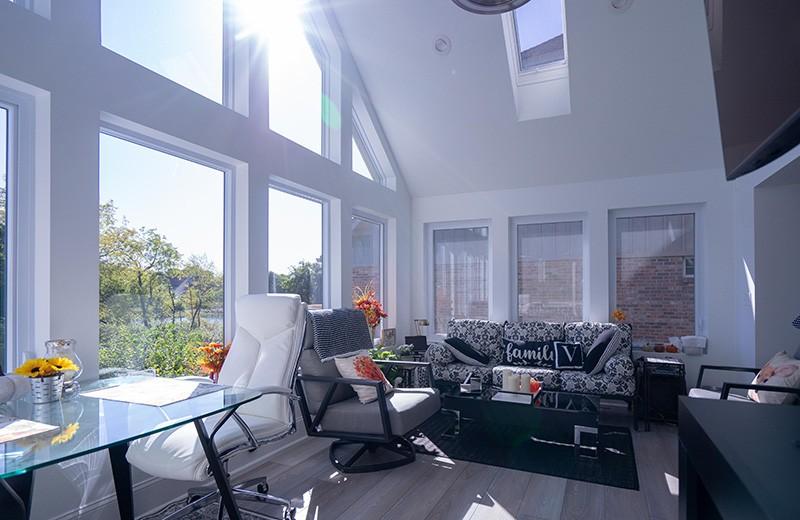 Sun room addition inside, Crystal Lake, IL