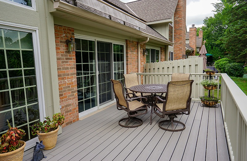 Porch addition - included an expanded deck