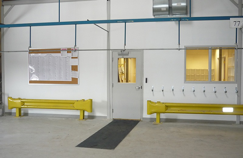Commercial renovation - loading dock service door