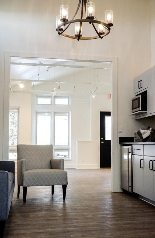 Kitchenette between gallery and studio