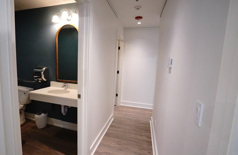 Bathroom and hallway