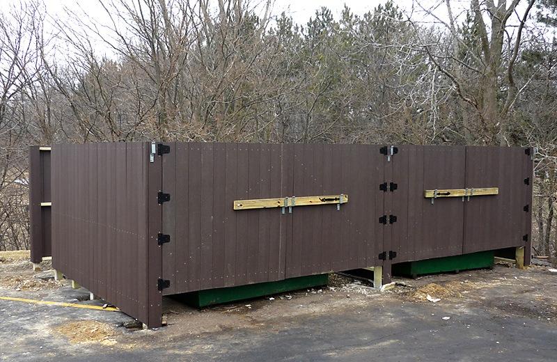 Exterior renovation - new garbage enclosure