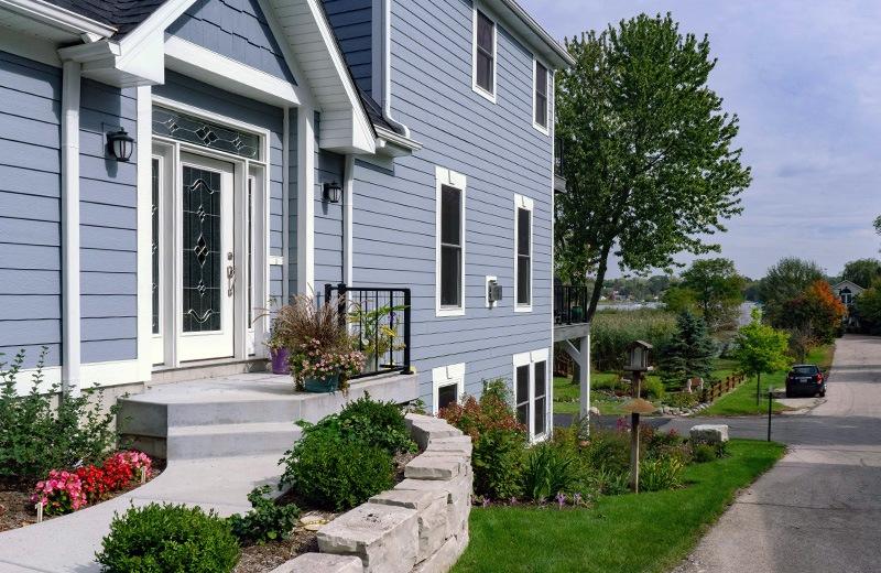Custom built home - outside front door