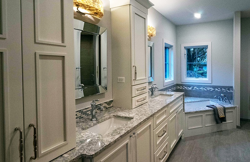 Master Bathroom Suite with Custom Cabinets