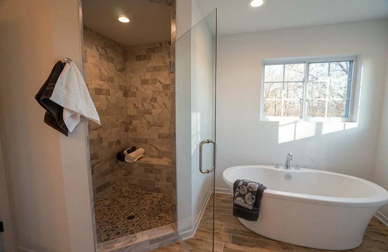 Master Suite Shower and Tub