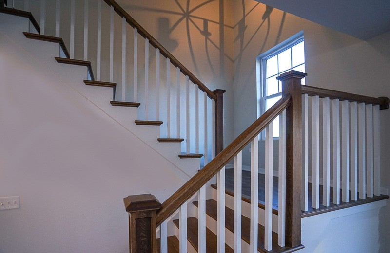 Custom built home - staircase