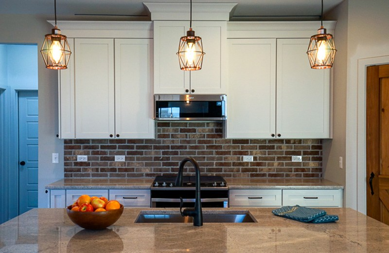 Custom Cabinets with Granite Island