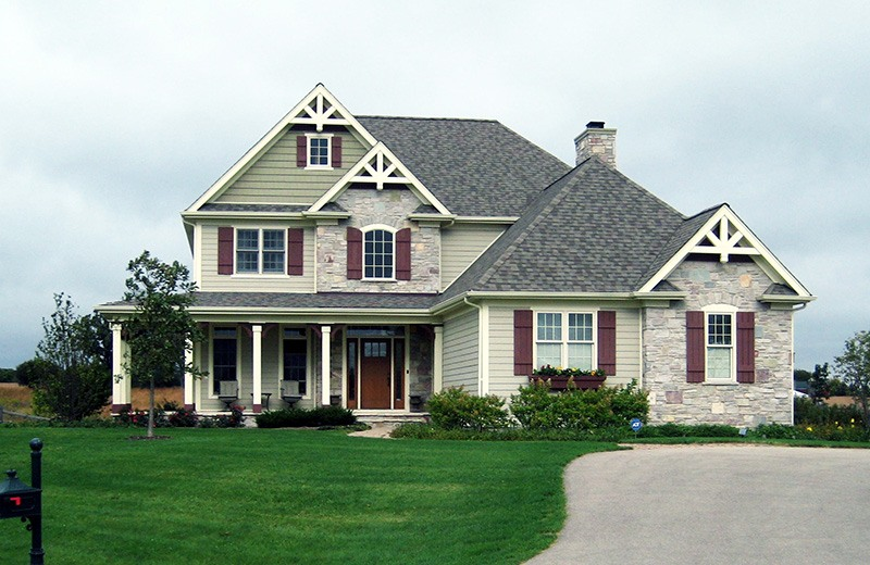 Custom built home - front of house, Lake Geneva, WI