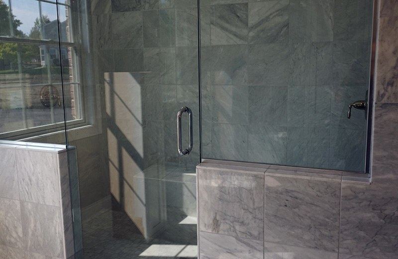 Custom built luxury home - master suite shower, Lakewood, IL